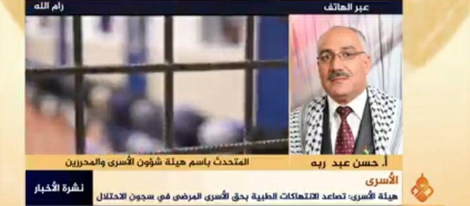 حسن عبد ربه للقدس اليوم: استمرار الاحتلال في سياسة الإهمال الطبي بحق الأسرى المرضى يعرض حياتهم للخطر