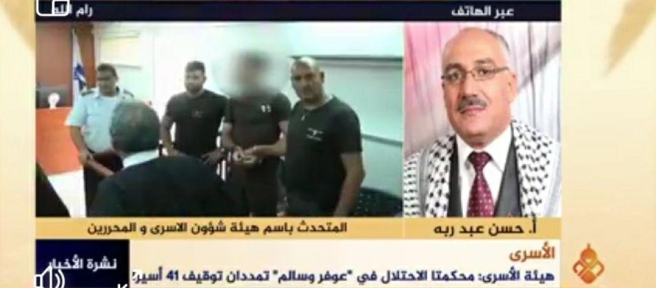 حسن عبد ربه للقدس اليوم: الاحتلال يستمر في قمع الأسرى من خلال تمديد فترة أحكامهم وابقائهم في السجون