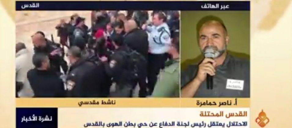 ناصر حمامرة للقدس اليوم: الاعتداءات الصهيونية اليومية وسيلة ضغط على المقدسيين ليغادروا بيوتهم
