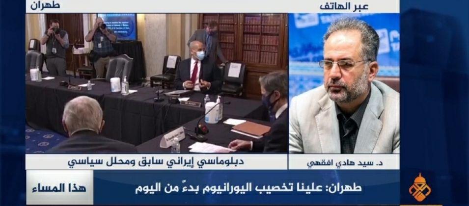 الدكتور سيد أفقهي للقدس اليوم: لن تسمح إيران بالاستخفاف بها وستقاوم للوصول إلى حقوقها