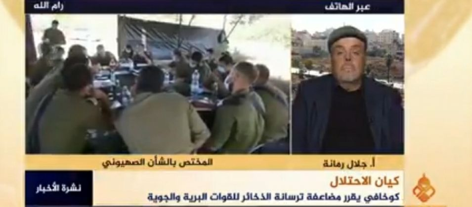 جلال رمانة للقدس اليوم: الاحتلال متخوف من اندلاع مواجهات مع المقاومة الفلسطينية