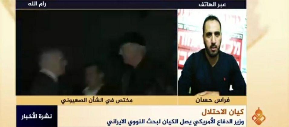 فراس حسان للقدس اليوم: الاحتلال الصهيوني لا يريد لإيران امتلاك السلاح النووي