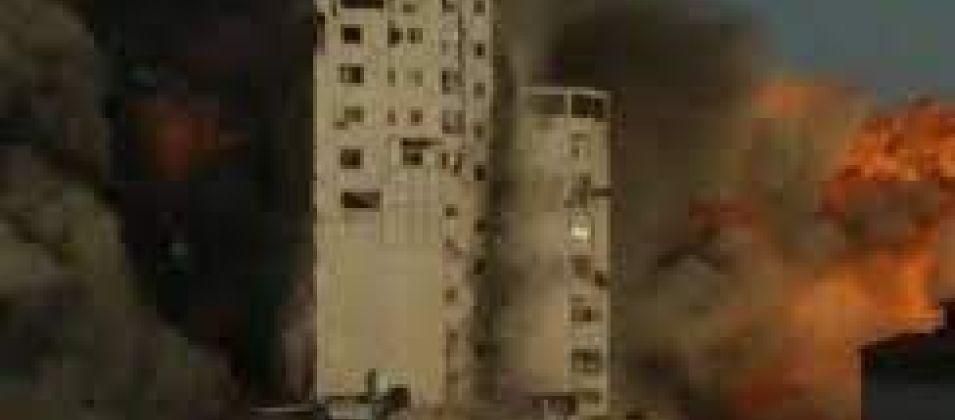 طائرات الاحتلال تستهدف برج الشروق بغزة