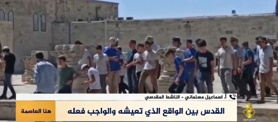 الناشط إسماعيل مسلماني للقدس اليوم: سلطات الاحتلال تستمر بانتهاكاتها في المسجد الأقصى